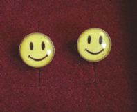 Sterling Silver Smiley Face Earrings- Gift Boxed
